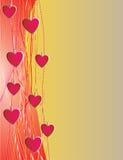 Fundo vertical de corações vermelhos Imagens de Stock Royalty Free