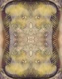 Fundo vertical simétrico do sumário sujo das cores para o projeto do vintage Imagem tirada mão da aquarela Verde, amarelo, marrom imagens de stock