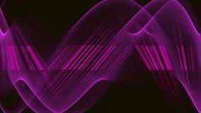 Fundo video abstrato com linhas onduladas roxas lisas do sumário patente roxo dos feixes, tira clara horizontal ilustração do vetor