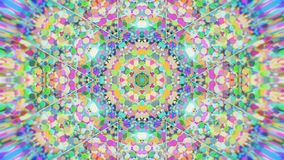 Fundo video calidoscópico colorido Testes padrões calidoscópicos coloridos Zumbe dentro o projeto do círculo de cor do arco-íris  vídeos de arquivo