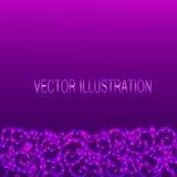 Fundo violeta com beira decorativa Ilustração do vetor Imagens de Stock