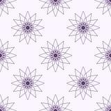 Fundo violeta com flores abstratas Imagem de Stock