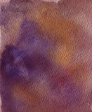 Fundo violeta da aguarela Foto de Stock