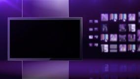 Fundo violeta do estúdio video estoque