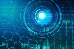 Fundo virtual da tecnologia Imagem de Stock
