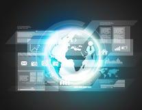 Fundo virtual da tecnologia de Digitas Imagem de Stock
