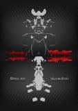 Fundo Vol. 2 de Rorschach Imagem de Stock