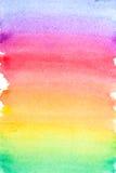 Fundo vívido da aquarela do arco-íris Fotografia de Stock