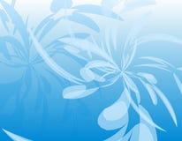 Fundo Wispy opaco azul das penas ilustração stock
