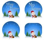 Fundos 2 de Papai Noel Imagens de Stock Royalty Free