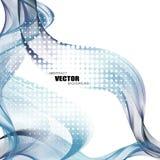 Fundos abstratos com linhas onduladas coloridas Projeto elegante da onda Tecnologia do vetor Imagens de Stock