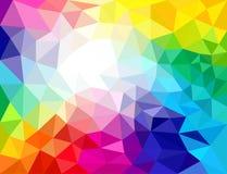 Fundos abstratos das cores geométricas ilustração stock