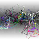 Fundos abstratos de uma comunicação Ilustração Imagens de Stock