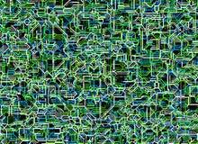 Fundos abstratos digitais futuristas das linhas de néon Fotos de Stock Royalty Free