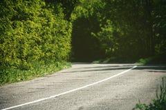Fundos abstratos do curso com estrada asfaltada Imagens de Stock