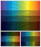 Fundos abstratos do espectro ajustados Ilustração Stock