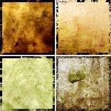 Fundos abstratos do grunge dos alugueres ajustados imagens de stock