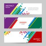 Fundos abstratos do vetor Listras coloridas do arco-íris em um branco ilustração stock