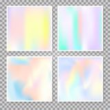 Fundos abstratos holográficos ajustados Imagens de Stock