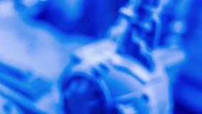 Fundos azuis abstratos brilhantes limpos da nova tecnologia vídeos de arquivo