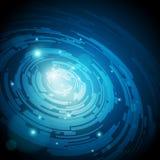 Fundos azuis abstratos da alta tecnologia - vetor Fotos de Stock Royalty Free