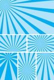 Fundos azuis do vetor com raias radiais - jogo Fotografia de Stock