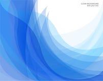 Fundos azuis do vetor e brancos abstratos Imagens de Stock Royalty Free