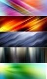 5 fundos coloridos abstratos apropriados para encabeçamentos e bandeiras do Web site ilustração do vetor
