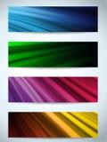 Fundos coloridos das bandeiras da Web ilustração royalty free