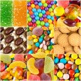 Fundos coloridos diferentes dos doces Imagem de Stock Royalty Free