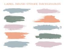 Fundos coloridos do curso da escova da etiqueta ilustração stock