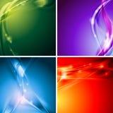 Fundos coloridos do vetor Fotos de Stock