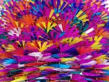 Fundos coloridos dos moinhos de vento do brinquedo Imagens de Stock