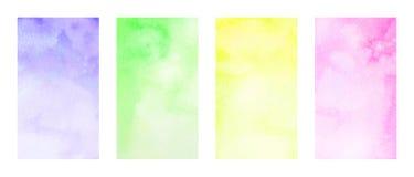 Fundos da aquarela Imagem de Stock