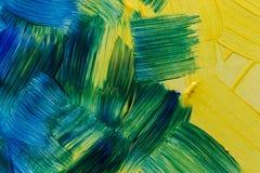 Fundos da arte abstrata Fundo Hand-painted AUTO FEITO Fotografia de Stock