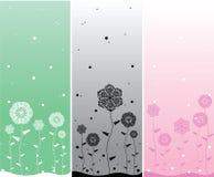 Fundos da flor de Minimalistic Imagens de Stock