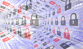Fundos da segurança do Internet Imagens de Stock Royalty Free