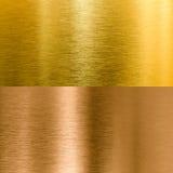 Fundos da textura do metal do ouro e do bronze Fotografia de Stock Royalty Free