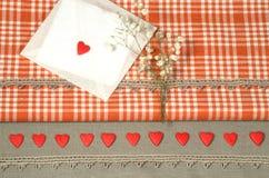 Fundos das decorações do dia de Valentim para o cartão Fotografia de Stock Royalty Free