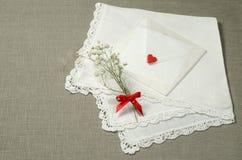 Fundos das decorações do dia de Valentim para o cartão Fotografia de Stock
