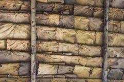 Fundos das folhas secas Fotografia de Stock