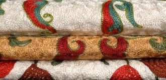 Fundos das telas e das matérias têxteis Imagens de Stock