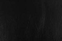 Fundos de couro pretos da textura Fotos de Stock