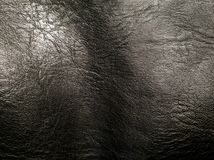 Fundos de couro pretos da textura, o teste padrão de couro preto, fundos abstratos Fotografia de Stock