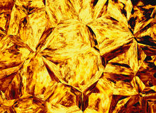 Fundos de cristal coloridos dourados do fogo do relevo Foto de Stock