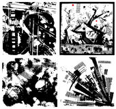 Fundos de Grunge ajustados Imagens de Stock Royalty Free