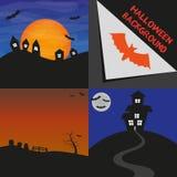 Fundos de Hallowen do vetor Imagens de Stock