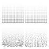 Fundos de intervalo mínimo ajustados A reticulação pontilha a ilustração do vetor Imagem de Stock Royalty Free