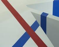 Fundos de linhas vermelhas e azuis Fotografia de Stock