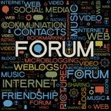 Fundos do fórum com as palavras Fotografia de Stock